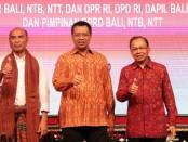 Gubernur Bali Wayan Koster beserta Gubernur NTB dan NTT menggelar Rapat Konsultasi dan Koordinasi terkait RUU Provinsi Bali, Selasa (3/3/2020) malam - foto: Istimewa