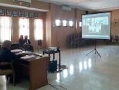 Suasana sidang online di Kejaksaan Negeri Purworejo, Rabu (1/4/2020) - foto: Sujono/Koranjuri.com