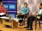 Ketua TP PKK Provinsi Bali Putri Suastini Koster dalam dialog interaktif Perempuan Bali Bicara terkait peran PKK dalam mencegah penyebaran Virus Corona, Jumat (3/4/2020) - foto: Istimewa