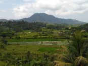 Gunung Agung terlihat jelas dari Desa Adat Tabola di Kecamatan Sidemen, Kabupaten Karangasem, Bali - foto: Istimewa/Lokabali.com