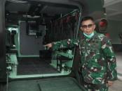Pangdam IX/Udayana Mayjen TNI Benny Susianto saat melakukan pengecekan Yonif Mekanis 741/Garuda Nusantara di Negara, Kabupaten Jembrana, Bali, Senin, 18 Mei 2020 - foto: Istimewa