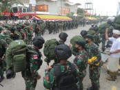Satuan Yonif Raider 900/Satya Bhakti Wirottama yang akan bertugas sebagai pengamanan perbatasan di Papua - foto: Istimewa
