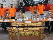 336 kg ganja yang diamankan dari pengiriman melalui jasa ekspedisi dari Lhokseumawe Aceh dengan tujuan Jakarta - foto: Istimewa