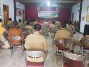 Suasana Rapat Panitia Musda Ke-6 Polosoro yang diadakan di Kantor Desa Jatimalang, Purwodadi, Senin (26/6/2020) - foto: Sujono/Koranjuri.com