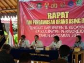 Rapat Tim Pengawasan Orang Asing (PORA) Tingkat Kabupaten dan Kecamatan se Kabupaten Purworejo, Rabu (24/6/2020) - foto: Sujono/Koranjuri.com