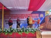 Suasana wisuda dan sumpah profesi siswa SMK Kesehatan Purworejo angkatan ke IV, Sabtu (27/06/2020) - foto: Sujono/Koranjuri.com