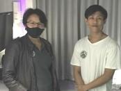 Agus Maulana bersama pihak Kesatuan Pelaut Indonesia (KPI) di tempat karantina - foto: Istimewa