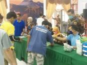 Seluruh penghuni Rutan Purworejo, Jum'at (5/6), menjalani tes urine - foto: Sujono/Koranjuri.com