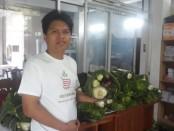 Koordinator Aksi, Ida Bagus Mandara Brasika saat ditemui di Griya Luhu Beng, Minggu (7/6/2020) pagi - foto: Catur/Koranjuri.com