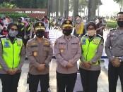 Rapid test covid-19 gratis yang diadakan Polda Metro Jaya dilakukan sebagai rangkaian menyambut HUT ke 74 Bhayangkara 1 Juli mendatang - foto: Istimewa