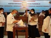 Penandatanganan kerjasama antara BPN dengan Pemkab Purworejo, Rabu (24/06/2020), di ruang Arahiwang Setda Kabupaten Purworejo - foto: Sujono/Koranjuri.com