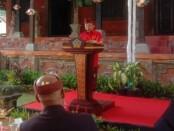 Gubernur Bali Wayan Koster mengumumkan Perda No. 4 Tahun 2020 tentang Penguatan dan Pemajuan kebudayaan Bali di Musium Bali, Kamis, 16 Juli 2020 - foto: Istimewa
