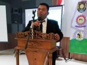 Suwarto, Kepala Desa Jatimalang, Kecamatan Purwodadi, terpilih secara aklamasi sebagai Ketua Umum Polosoro (Paguyuban Kepala Desa dan Perangkat Desa se Kabupaten Purworejo) periode 2020 - 2023, dalam Musda ke VI yang digelar Rabu (08/06/2020) di Ganesha Convention Hall Purworejo - foto: Sujono/Koranjuri.com