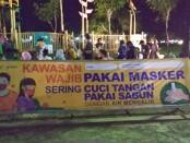 Alun-alun Purworejo, Kawasan wajib pakai masker - foto: Sujono/Koranjuri.com