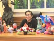 Bunda PAUD Bali Putri Suastini Koster membuka lomba mewarnai dalam peringatan Hari Anak Nasional yang diselenggarakan secara virtual oleh Keluarga Alumni Universitas Gadjah Mada (Kagama) Provinsi Bali, Minggu (19/7/2020) - foto: Istimewa