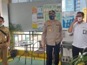 Dirbinmas Polda Metro Jaya melakukan pemantauan di pasar Jaya Bendungan Hilir Jakarta Pusat dan Pasar Jaya Warung Buncit, Jakarta Selatan, Senin, 20 Juli 2020 - foto: Istimewa