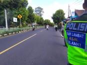 Kegiatan razia dalam Operasi Patuh Lempuyang 2020 di Jalan Tulikup Gianyar, Rabu (29/7/2020) - foto: Catur/Koranjuri.com