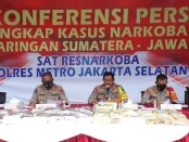131 kilogram sabu-sabu dibongkar oleh Satuan Narkoba Polres Metro Jakarta Selatan dari jaringan Sumatera-Jawa-Jakarta - foto: Bob/Koranjuri.com