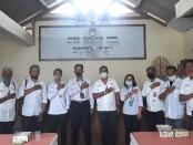 Pengurus Serikat Media Siber Indonesia (SMSI) Bali melakukan audiensi bersama KPU Kabupaten Bangli, Senin, 10 Agustus 2020 - foto: Istimewa