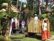 Apel HUT RI di Arek Perkebunan Ekowisata di Mancawarna, Tampaksiring oleh Komunitas Pariwisata Gianyar, Senin (17/8/2020) - foto: Catur/Koranjuri.com