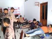 Pelaksanaan donor darah dalam rangka memperingati Hari Lalu Lintas Bhayangkara ke 65 di Satlantas Polres Purworejo, Senin (21/09/2020) - foto: Sujono/Koranjuri.com