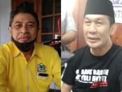 Kelik Susilo Ardani, Ketua Harian Partai Golkar Purworejo (kiri) dan Ketua Partai Demokrat Kabupaten Purworejo, Yophi Prabowo (kanan) - foto: Sujono/Koranjuri.com