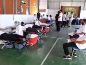 Palang Merah Indonesia (PMI) Provinsi Bali bersama Perhimpunan Donor Darah Indonesia (PDDI) melakukan jemput bola pendonor di TVRI Bali, Rabu, 9 September 2020 - foto: Istimewa