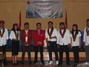 Pengurus Dewan Pimpinan Cabang (DPC) Perhimpunan Mahasiswa Katolik Republik Indonesia (PMKRI) Sanctus Paulus Cabang Denpasar periode 2020-2021 dilantik, Jumat (12/9/2020) - foto: Istimewa