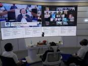 Forum dengar arpirasi masyarakat atau Ciritical Voice Point (CVP) periode September, Rabu (16/09/2020), yang dilaksanakan secara virtual - foto: Sujono/Koranjuri.com