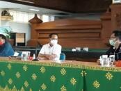 Perwakilan Pengurus Persatuan Wartawan Indonesia (PWI) Provinsi Bali bertatap muka dengan para Direksi Bank BPD Bali di kantor setempat, Selasa (22/9/2020) - foto: Istimewa