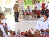 Deputi Bidang Sisban Strategi Badan Nasional Penanggulangan Bencana (BNPB) Wisnu Widjaja bertemu Gubernur Bali Wayan Koster di Jayasabha, Denpasar, Kamis, 1 Oktober 2020 - foto: Istimewa