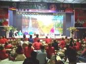 Sanggar seni Bandung Bondowoso di Desa Gondangan Jogonalan, Klaten, Jawa Tengah, menggelar pertunjukan seni tradisi Kethoprak dengan lakon Ki Ageng Mangir Wanabaya (Tudasmara Pamikatsih), Sabtu (31/10/202) - foto: Istimewa