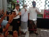 Paslon Calon Walikota dan Wakil Walikota Denpasar nomer urut 2 AMERTA menyambangi Pasar Laiz, di Sekar Jepun, Jalan Sedap Malam, Denpasar - foto: Istimewa
