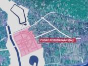 Pemetaan wilayah pembangunan Pusat Kebudayaan Bali di lahan eks Galian C di Kecamatan Gunaksa, Klungkung - foto: Istimewa
