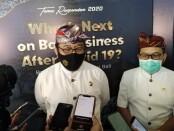 Wakil Gubernur Bali Tjokorda Oka Artha Ardhana Sukawati mengatakan (kiri) bersama Kepala Kantor Perwakilan wilayah Bank Indonesia (KPwBI) Trisno Nugroho dalam acara Temu Responden 2020 di BNDCC, Nusa Dua Bali, Kamis, 19 November 2020 - foto: Koranjuri.com