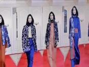 Peragaan busana rancangan fashion tenun endek pada Pembukaan Karya Kreatif Indonesia (KKI) 2020 seri III yang digelar secara virtual, Jumat (20/11/2020) - foto: Istimewa