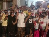 Calon Walikota Denpasar Gede Ngurah Ambara Putra berpasangan dengan Calon Wakil Walikota Denpasar Made Bagus Kertha Negara (AMERTA) bersama pendukung di Pilkada Kota Denpasar - foto:  Istimewa