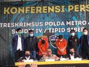 Subdit IV Tipid Siber Ditreskrimsus Polda Metro Jaya berhasil mengamankan pelaku penyebar video bernada provokasi dan pengancaman terhadap pihak Kepolisian di Media Sosial (Medsos) pada Minggu (13/12/2020) - foto: Bob/Koranjuri.com
