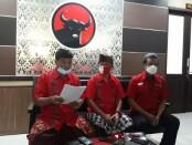 Keterangan pers terkait pemecatan 3 kader PDIP Kabupaten Bangli di Kantor DPD PDIP Perjuangan, Renon, Denpasar, Jumat, 4 Desember 2020 - foto: Istimewa