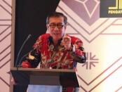 Menteri Hukum dan Hak Asasi Manusia (Menkumham), Yasonna H Laoly, melakukan diskusi interaktif tentang Arah Kebijakan Pemerintah Memajukan Usaha Mikro dan Kecil Melalui Perseroan Perorangan di Hotel Conrad Nusa Dua Bali, 11 Desember 2020 - foto: Istimewa