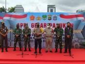 Polda Metro Jaya melakukan gelar pasukan dalam operasi Lilin 2021 - foto: Bob/Koranjuri.com