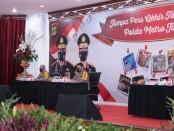 Jumpa pers akhir tahun 2020 yang dilaksanakan Polda Metro Jaya secara virtual, Rabu, 23 Desember 2020 - foto: Bob/Koranjuri.com