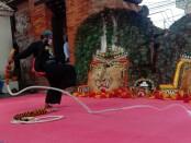 Festival budaya Pecut Ksatria Mahottama yang dilaksanakan di Puri Gerenceng Minggu, (26/12/2020) - foto: Istimewa