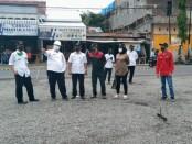 Kepala Dinas PUPR Kabupaten Purworejo, saat meninjau salah satu pekerjaan - foto: Sujono/Koranjuri.com