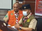 Ketua Satgas pengawas protokol kesehatan Gerakan Pramuka Kwarda Bali I Gede Wirawan (kiri) bersama Ketua Kwarda Bali yang juga Sekretaris Satgas Covid-19 Bali I Made Rentin (kanan) - foto: Istimewa