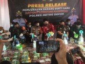 Barang bukti sabu-sabu seberat 44 kilogram yang dimusnahkan Polres Metro Depok - foto: Istimewa