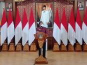 Gubernur Bali Wayan Koster mengumumkan peluang pengembangan usaha minuman arak Bali secara legal, di Jayasabha, Senin, 22 Februari 2021, sesuai Perpres Nomor 10 Tahun 2021 mengatur tentang Bidang Usaha Penanaman Modal - foto: Istimewa