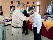 Kepala Dinas Perindustrian dan Tenaga Kerja (Dinperinaker) Kabupaten Purworejo, Gathot Suprapto, SH, secara resmi membuka Pelatihan Ketrampilan Berbasis Kompetensi angkatan kedua, Senin (01/03/2021) di UPT BLK Cangkrep - foto: Sujono/Koranjuri.com