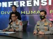 Kepala Divisi Humas Polri Irjen Argo Yuwono memberikan keterangan penghentian kasus dugaan penyerangan Laskar FPI kepada polisi di Tol Jakarta-Cikampek KM 50, Kamis, 4 Maret 2021 - foto: Istimewa