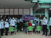 Para pegawai Rutan Purworejo usai menjalani vaksinasi, Selasa (09/03/2021) - foto: Sujono/Koranjuri.com